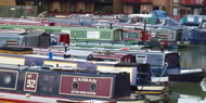 Hilperton Marina at Devizes in Wiltshire